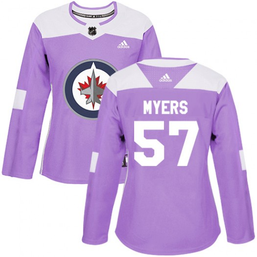 Tyler Myers Winnipeg Jets Women's Adidas Authentic Purple Fights Cancer Practice Jersey