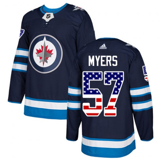 Tyler Myers Winnipeg Jets Men's Adidas Authentic Navy Blue USA Flag Fashion Jersey