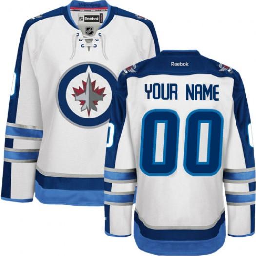Youth Reebok Winnipeg Jets Customized Authentic White Away Jersey